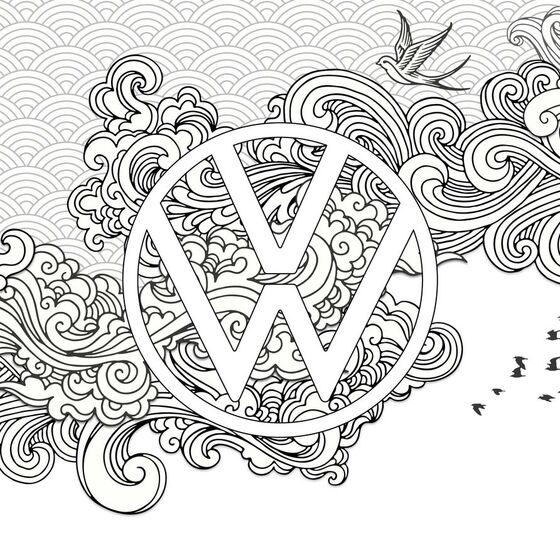 Volkswagen Colouring Book Theme 2 | VW Lifestyle